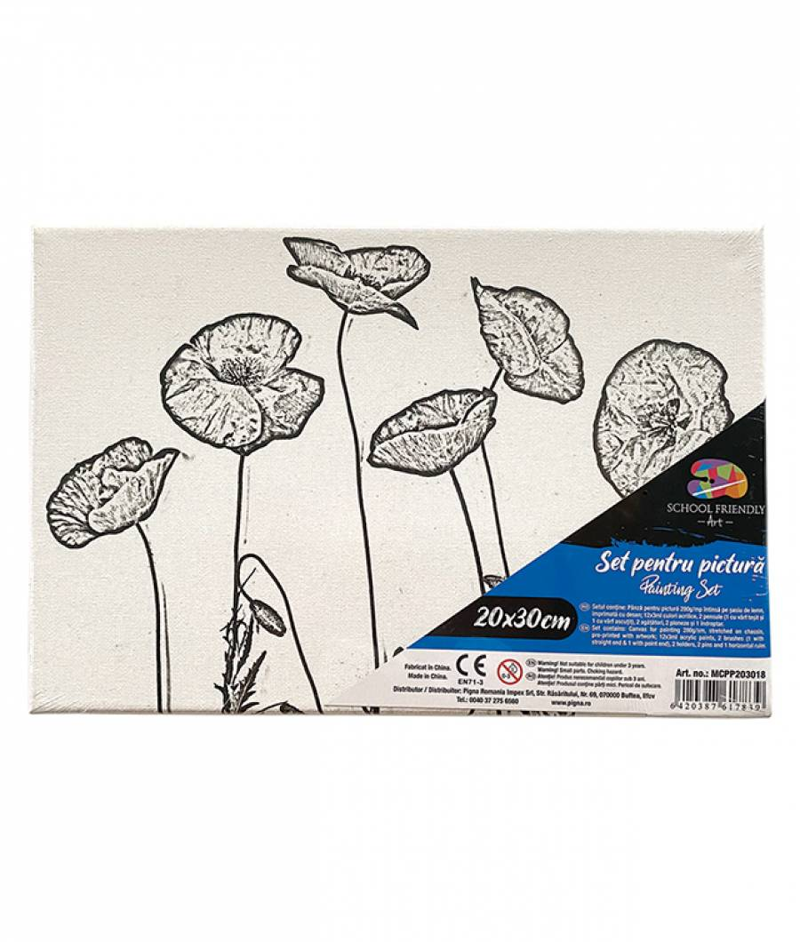 Panza SF ART pre printata  sasiu lemn 1.6x2.5cm 20x30cm Flori 2