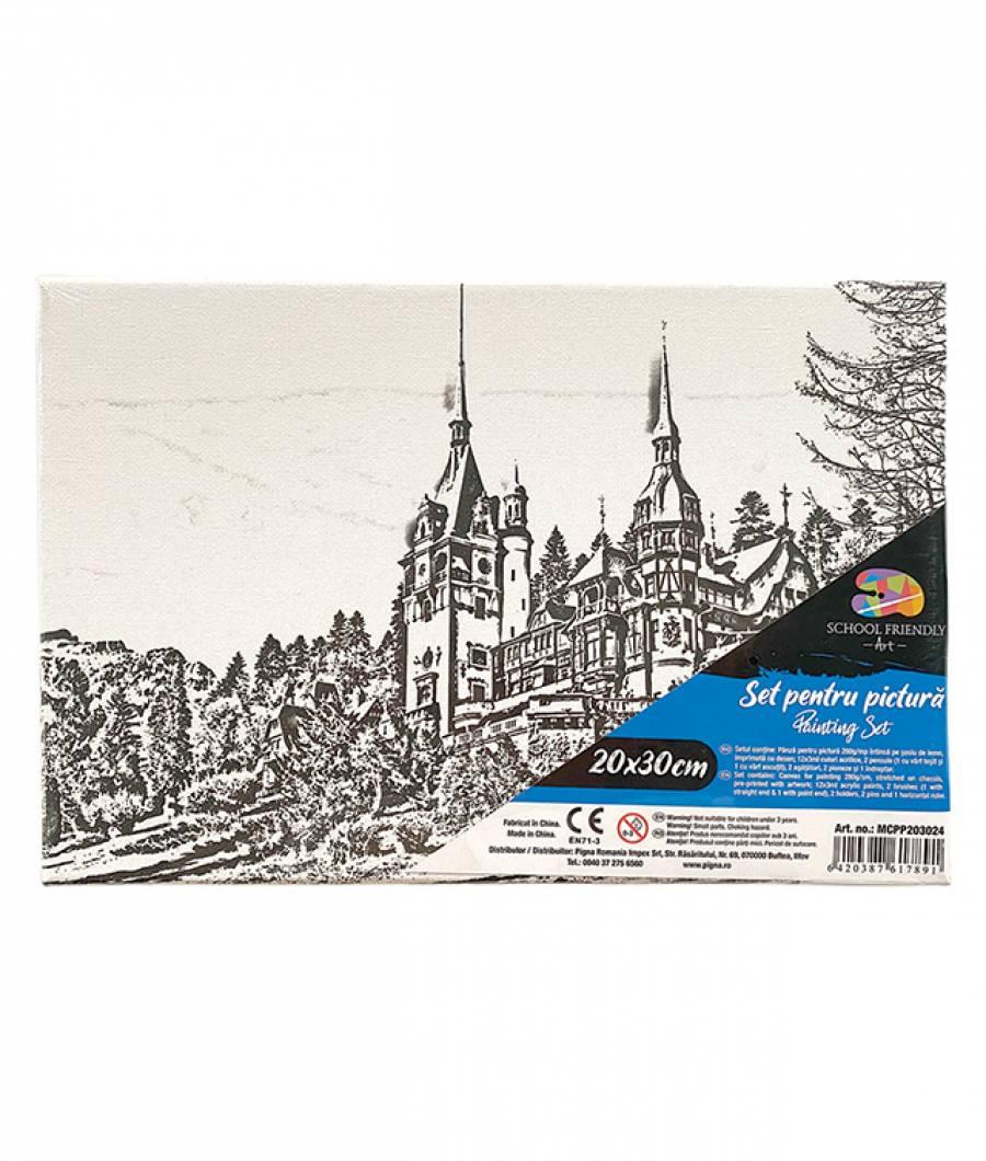 Panza SF ART pre printata  sasiu lemn 1.6x2.5cm 20x30cm Castel
