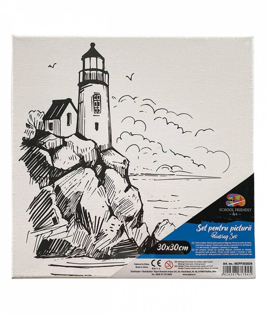 Panza SF ART pre printata  sasiu lemn 1.6x2.5cm 30x30cm Far 2