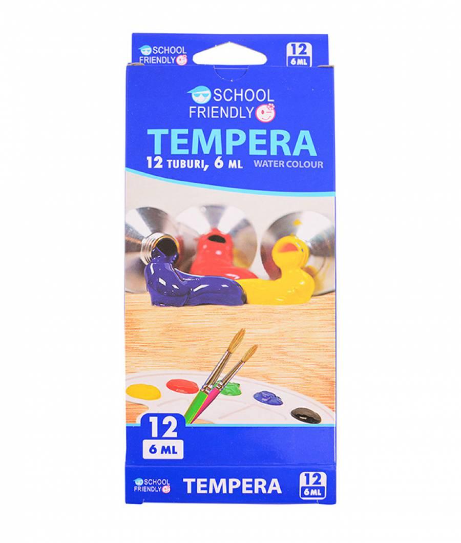Tempera. 12 culori 6ml.