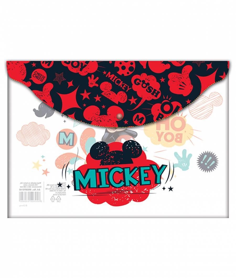 Mapa  plastic  cu buton A4 Mickey .