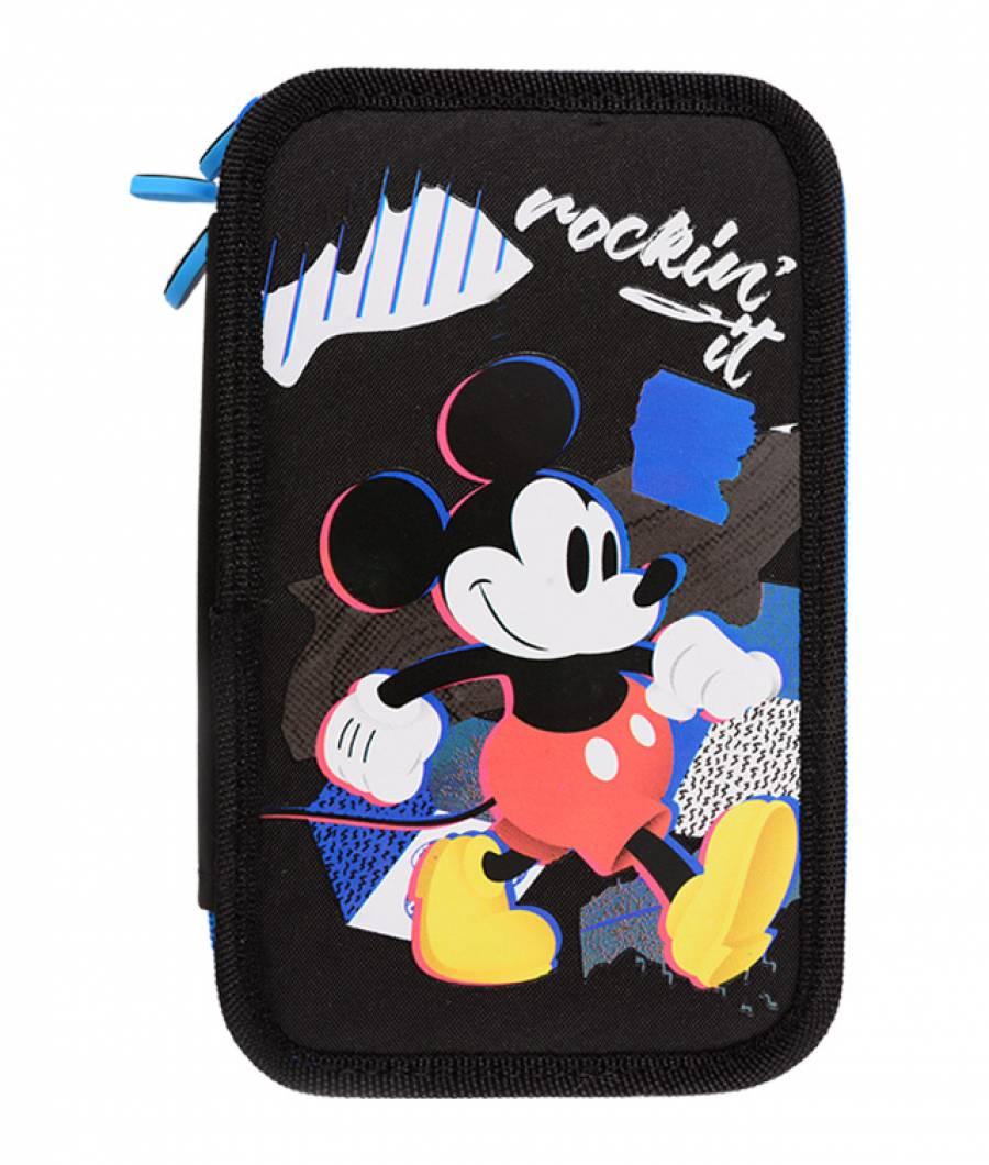 Penar 3 fermoare albastru-negru Mickey