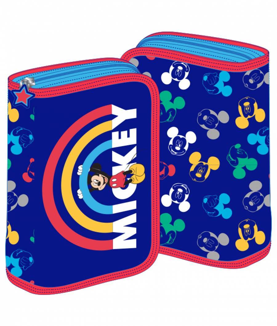 Penar 2 extensii albastru-multicolor Mickey Mouse