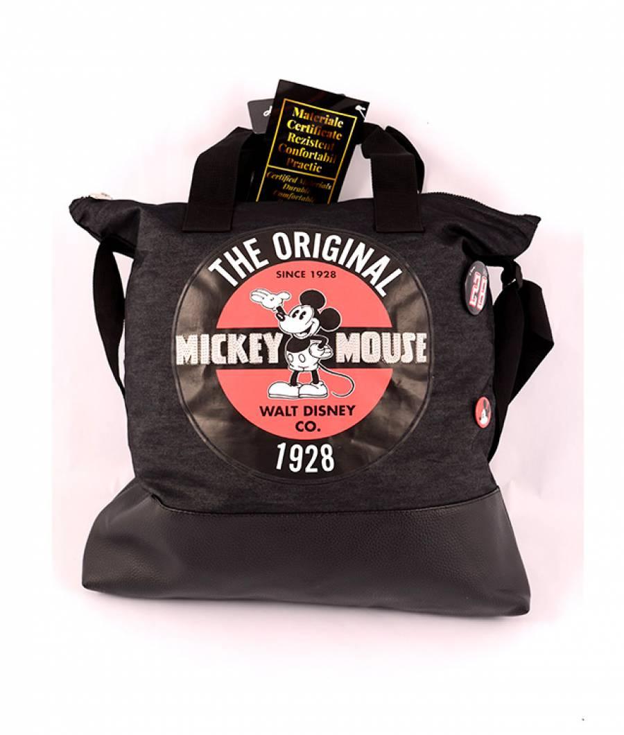 Geanta de umar, negru Denim, Vintage Mickey
