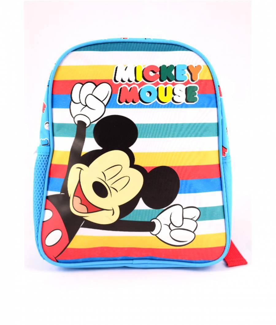 Mini-ghiozdan prescolari albastru-multicolor Mickey