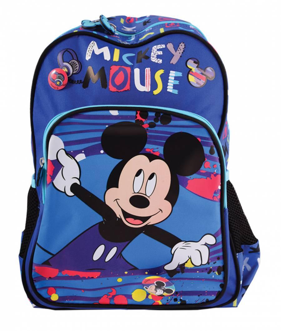 Ghiozdan preg?titoare albastru multicolor Mickey