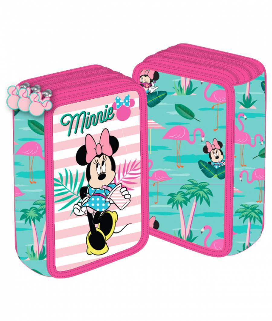 Penar 3 fermoare roz-verde Minnie Mouse