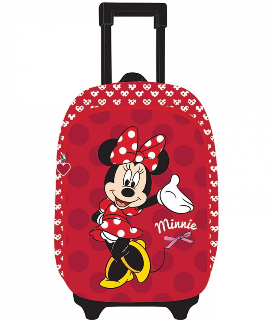 Ghiozdan Troller CL 1/4 3D 2 ferm. Minnie Mouse Ro