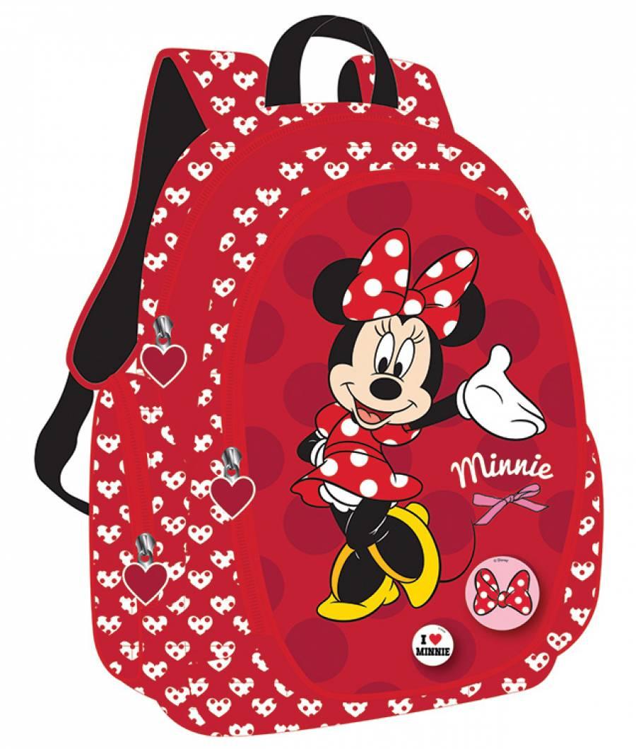 Ghiozdan Gimnaziu Minnie Mouse Rosu
