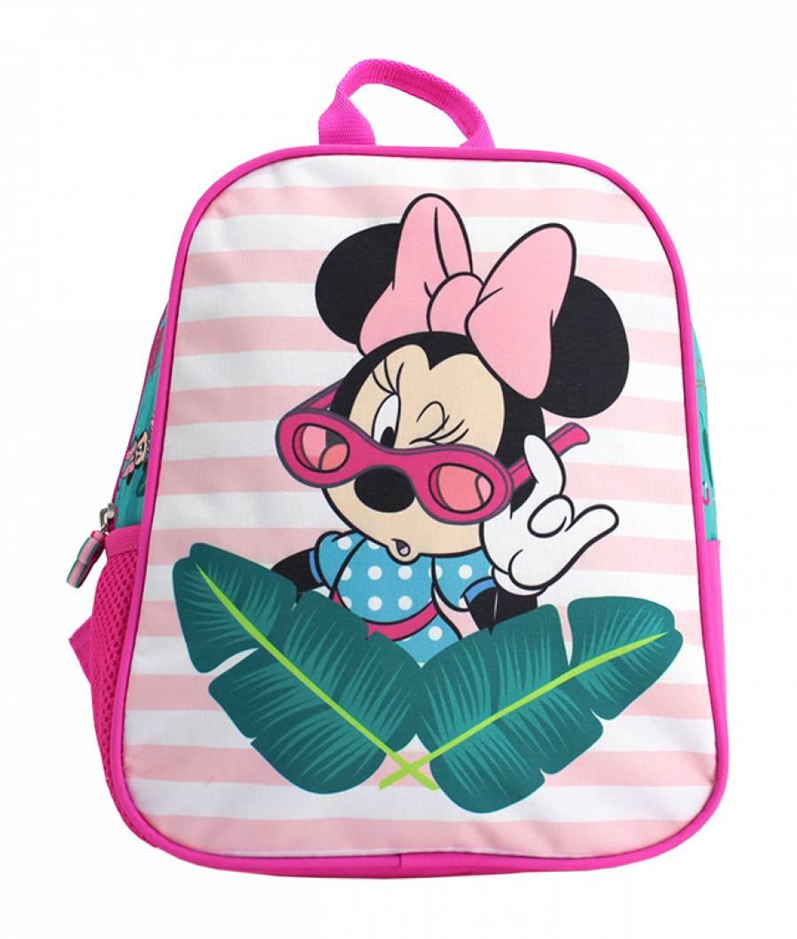 Mini-ghiozdan prescolari roz-verde Minnie Mouse