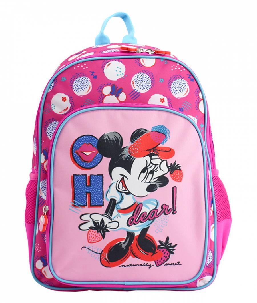 Ghiozdan Pregatitoare roz Minnie Mouse