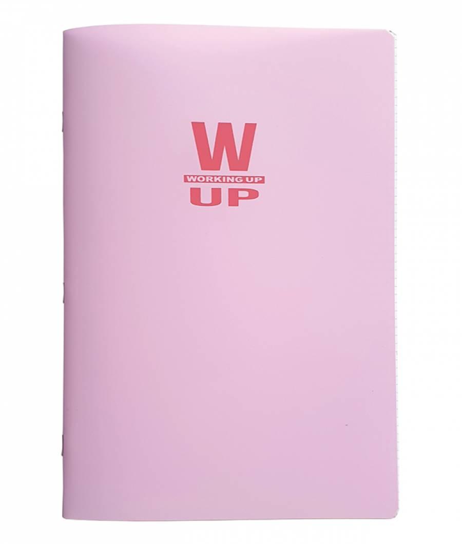 Caiet A4 60f D PP WorkingUp 300 mic 70gr. roz pastel