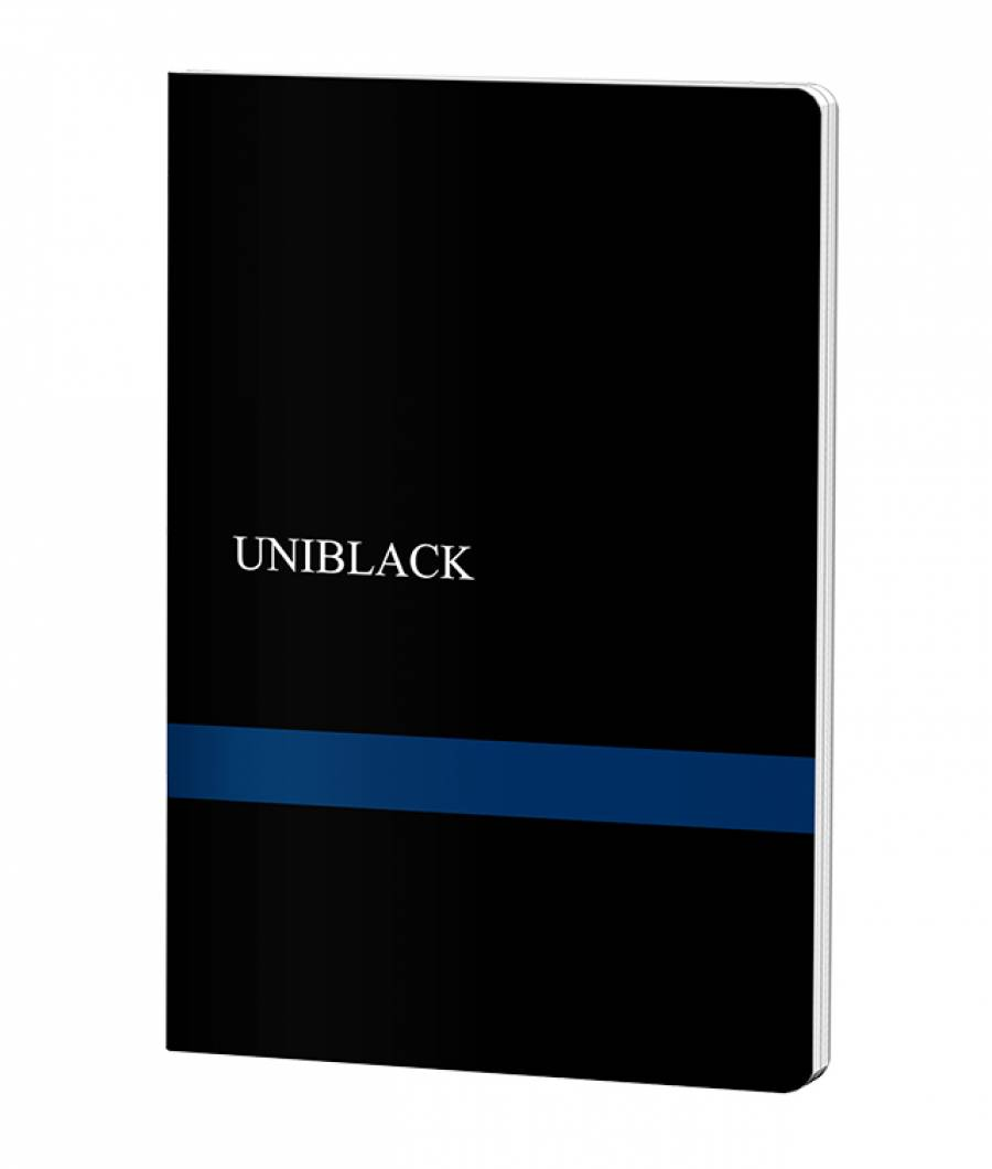 Caiet A4 60f M PP Uniblack 300 mic 70gr, cop. albastra
