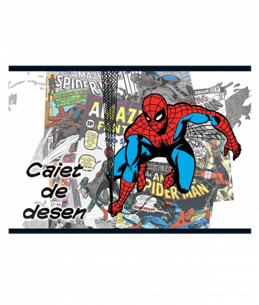 Caiet Desen 16file Spider-man