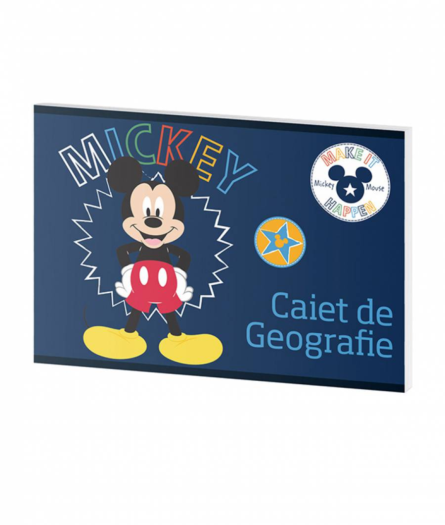 Caiet Geografie 24file Mickey .