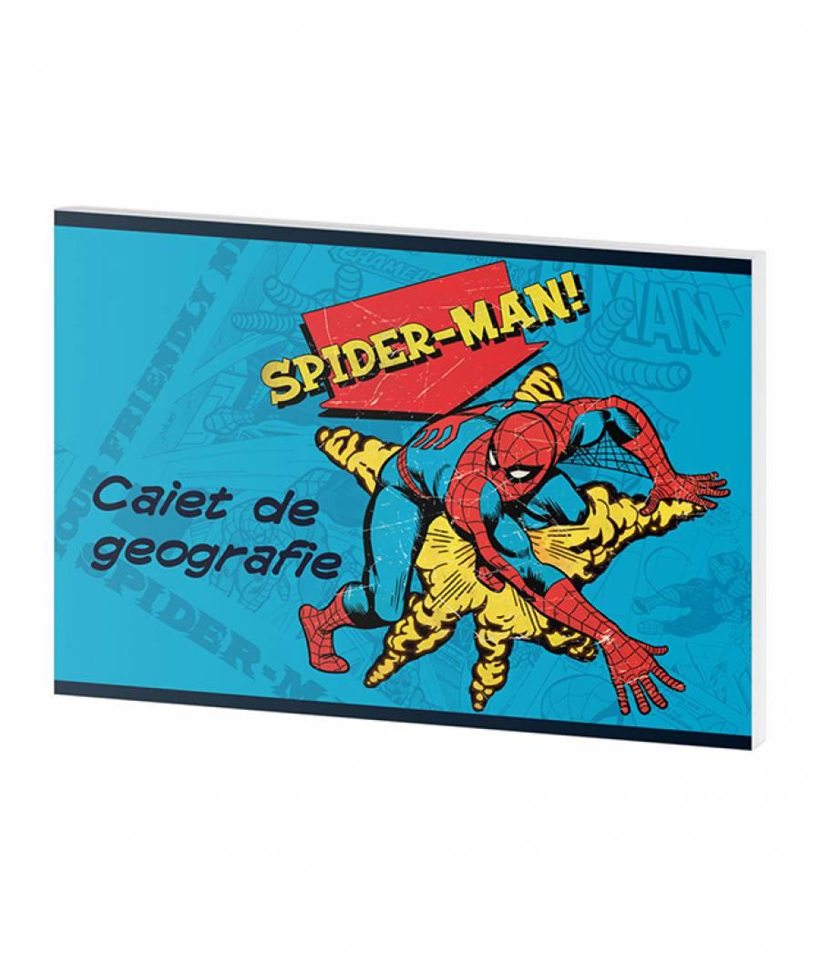 Caiet Geografie 24file Spider-man
