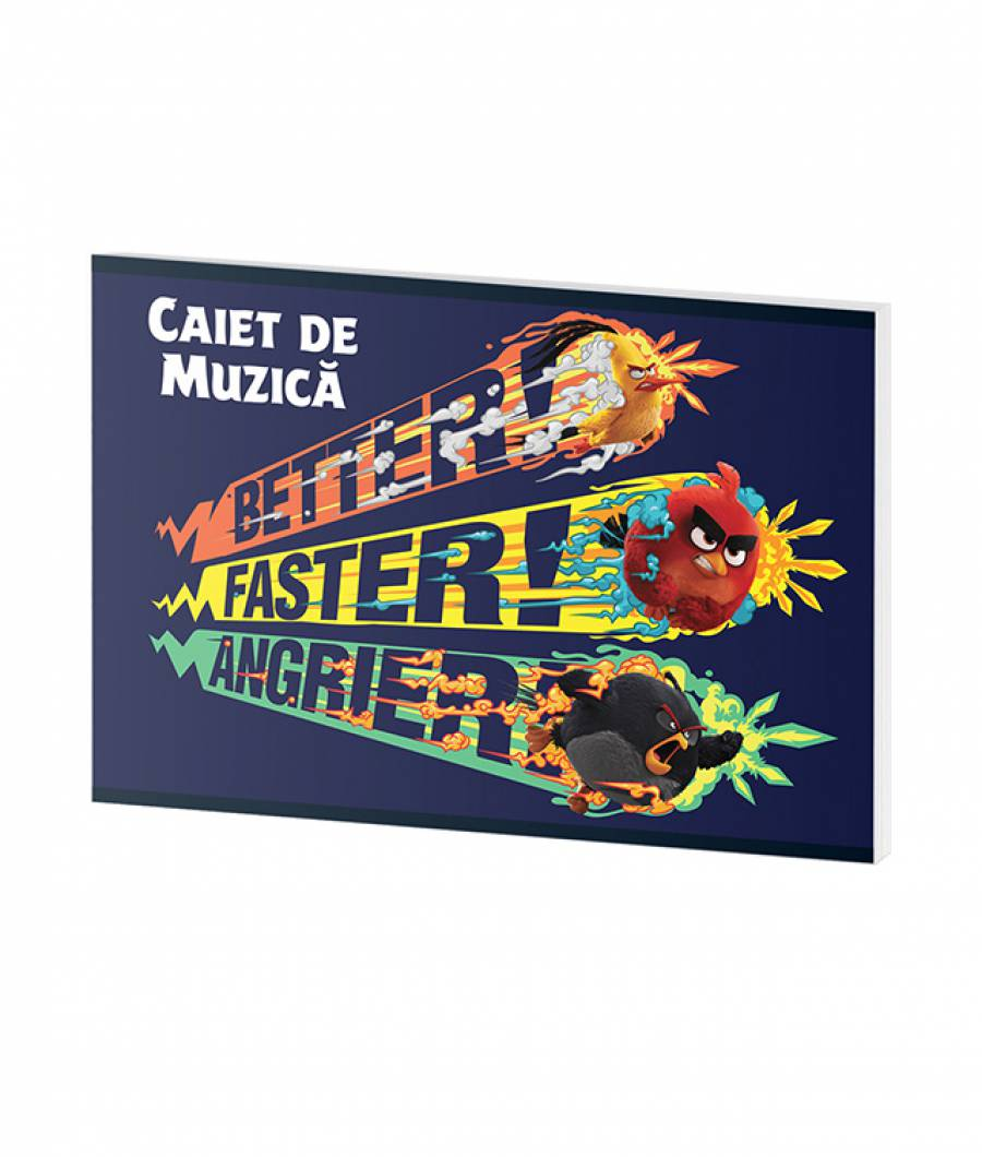 Caiet Muzica 24file Angry Birds