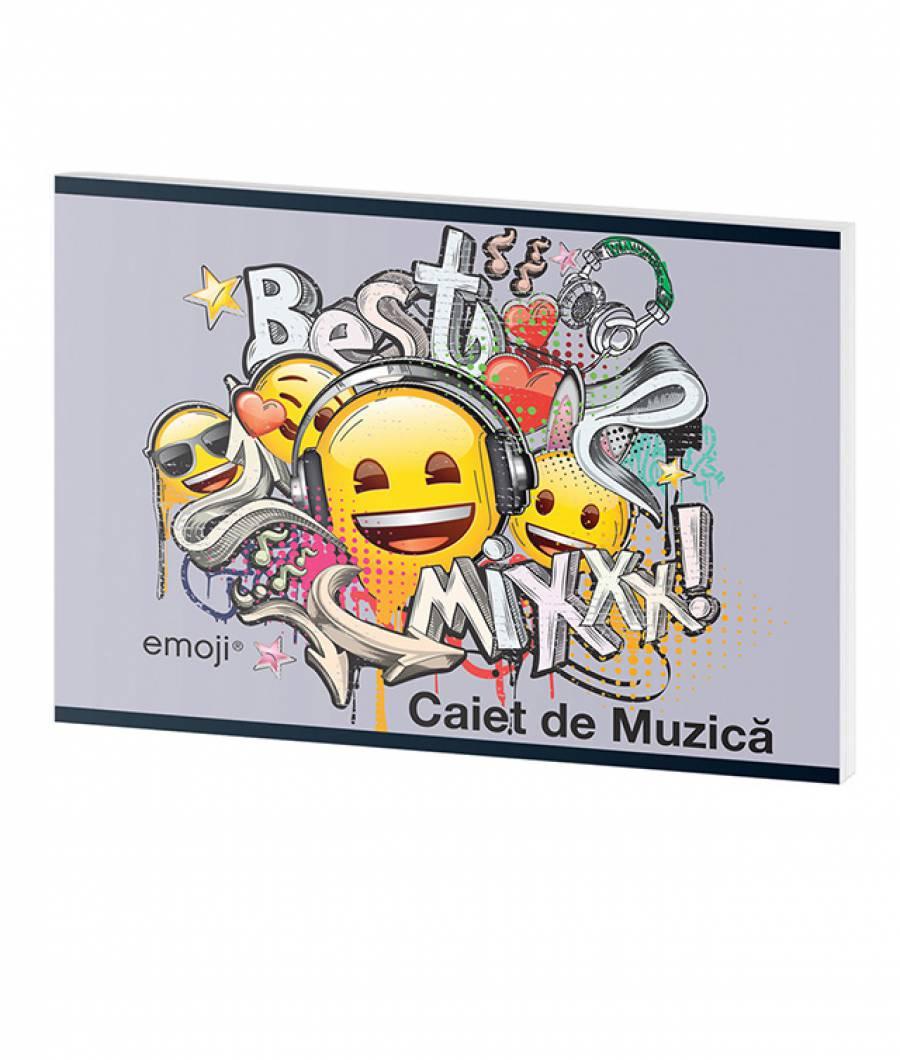 Caiet Muzica 24file Emoji Clasic .