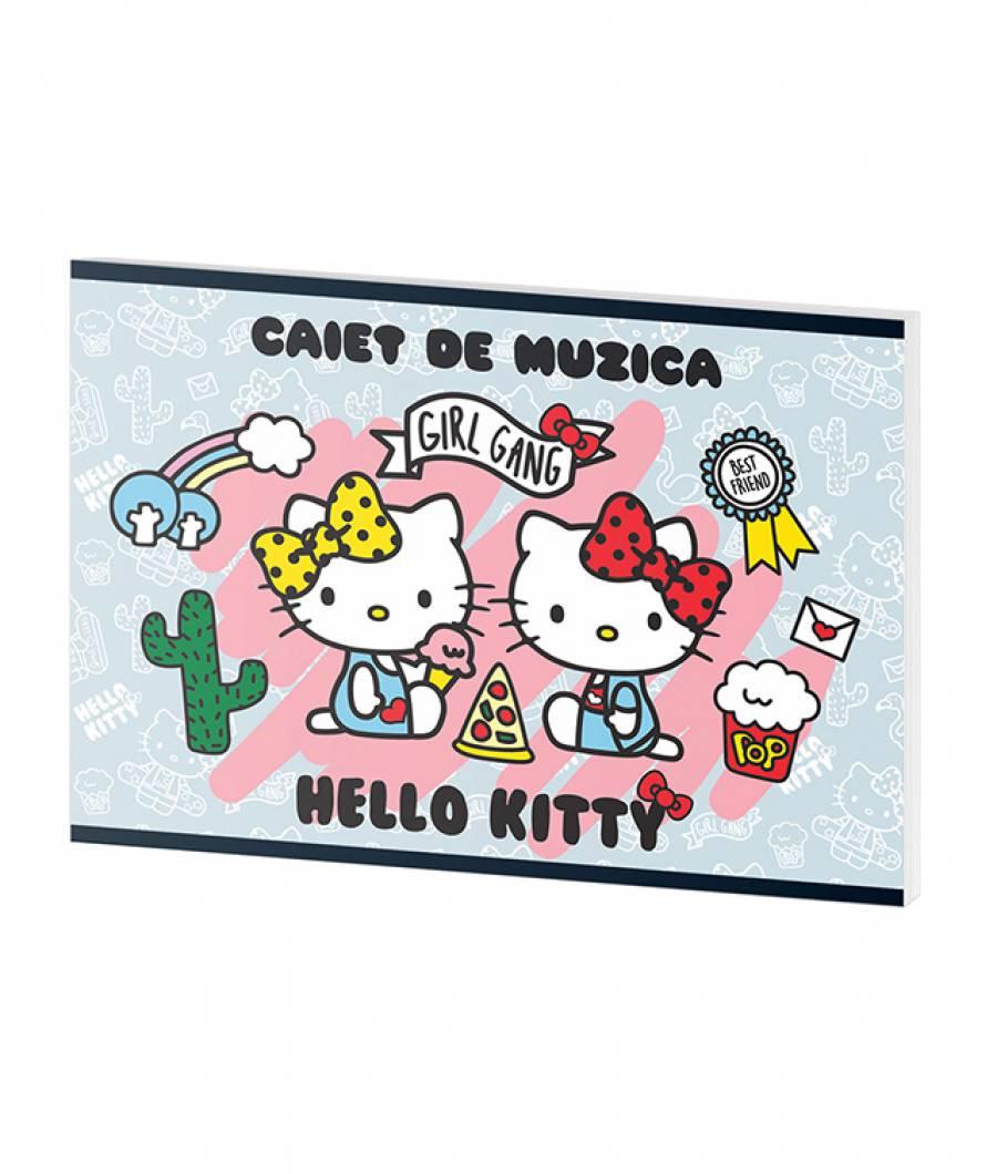 Caiet Muzica 24file Hello Kitty .