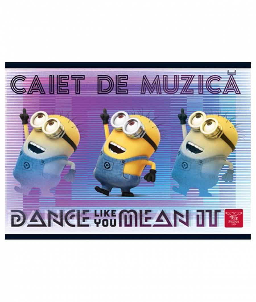 Caiet Muzica 24file Minions