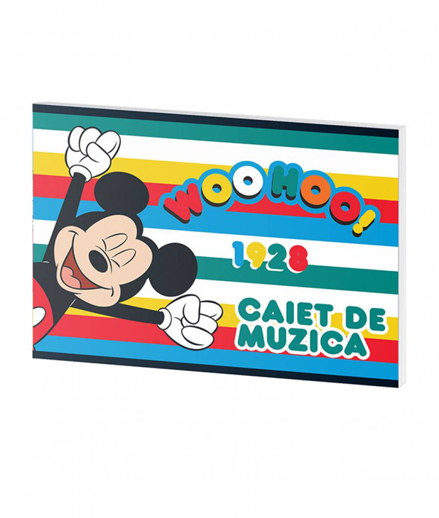 Caiet Muzica 24file Mickey .