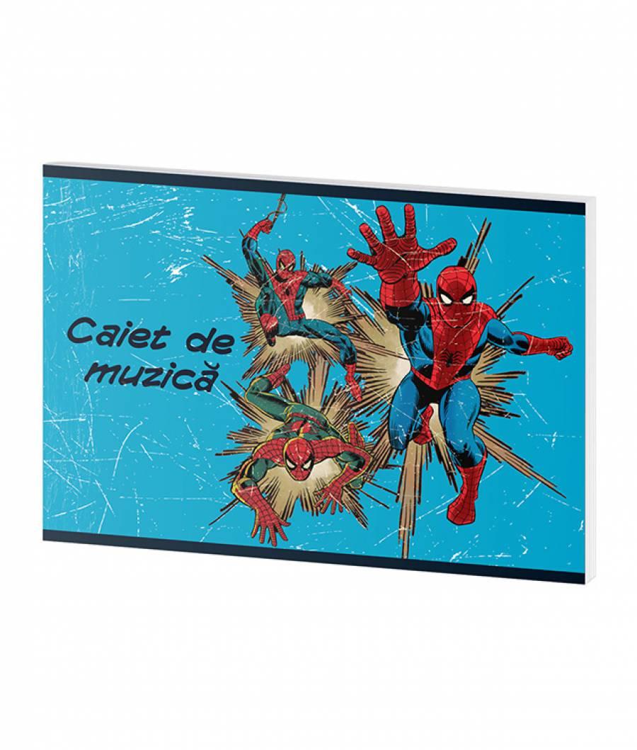 Caiet Muzica 24file Spider-man