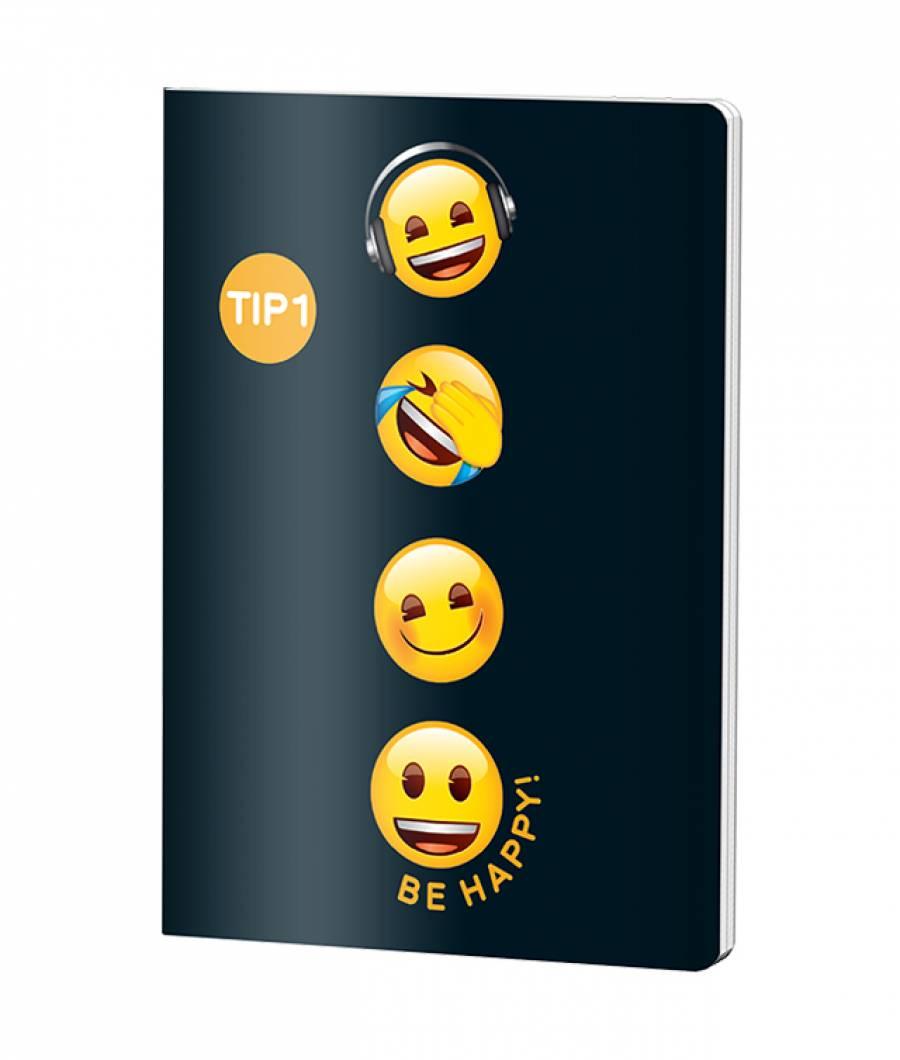 Caiet Tip 1 A5 24file Emoji Clasic .