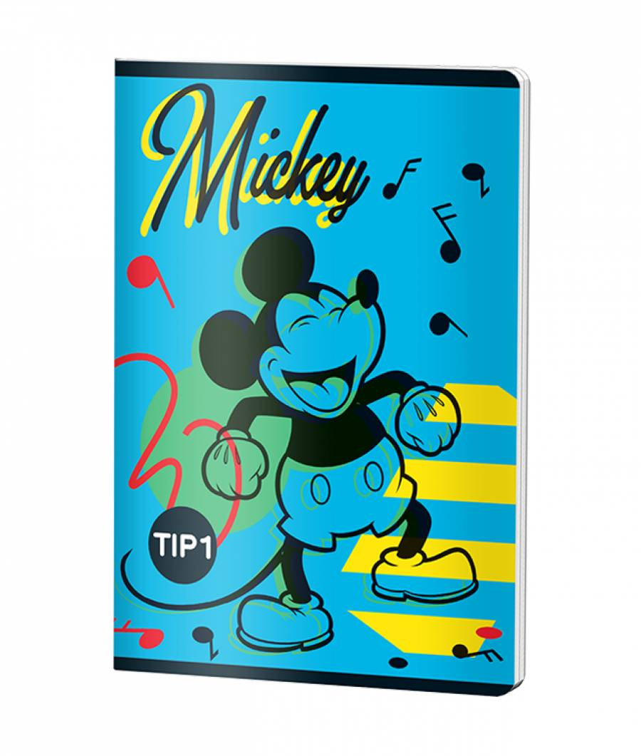 Caiet Tip 1 A5 24file Mickey .