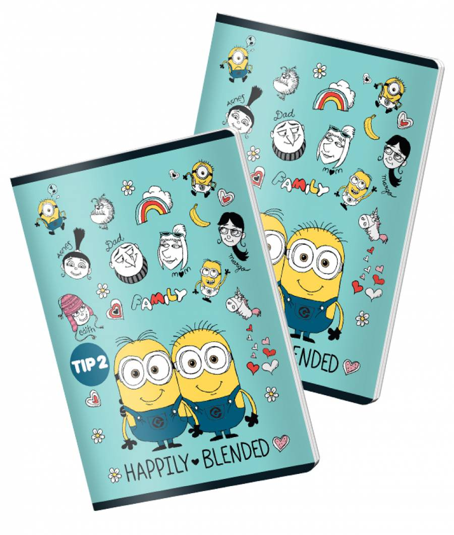 Caiet A5 24file Tip 2 Minions