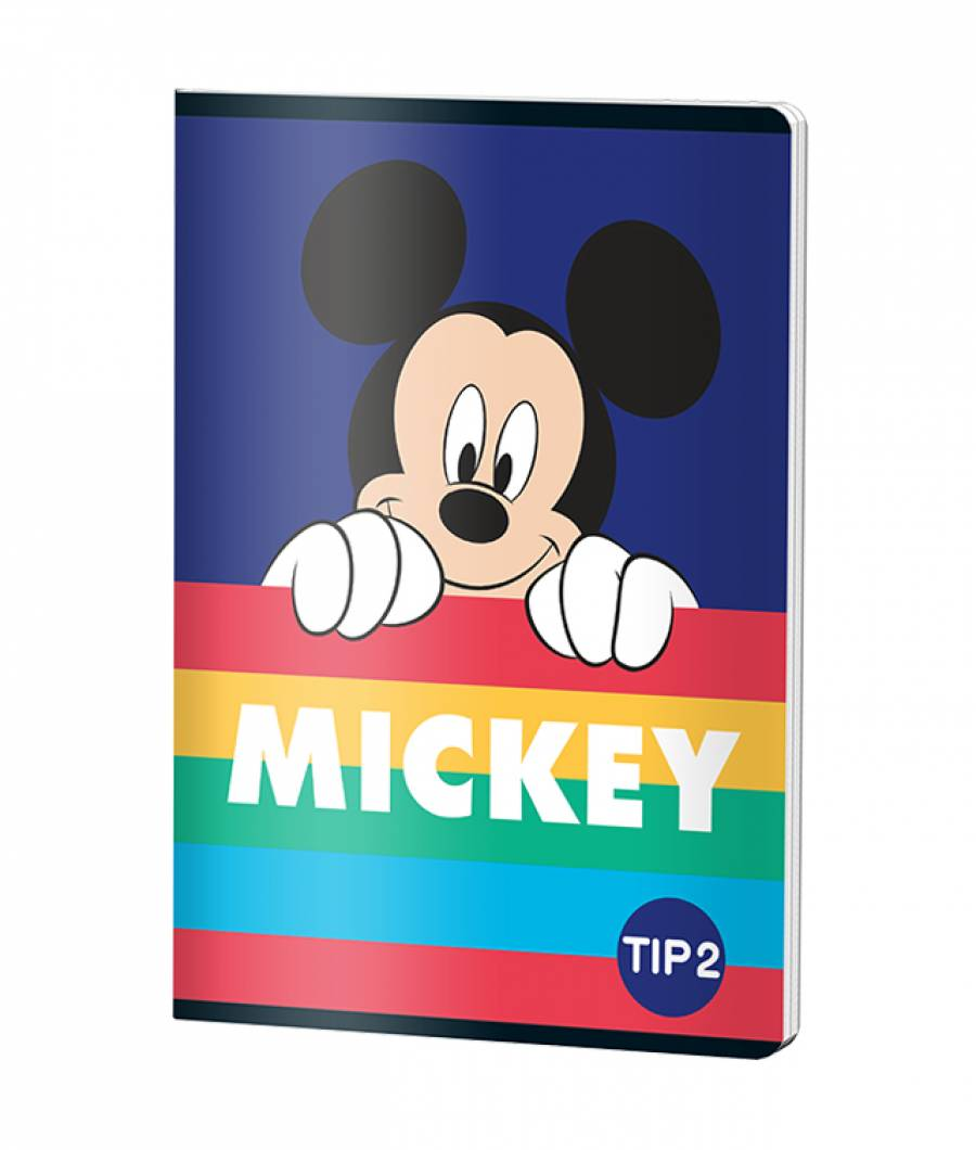 Caiet Tip 2 A5 24file Mickey Mouse