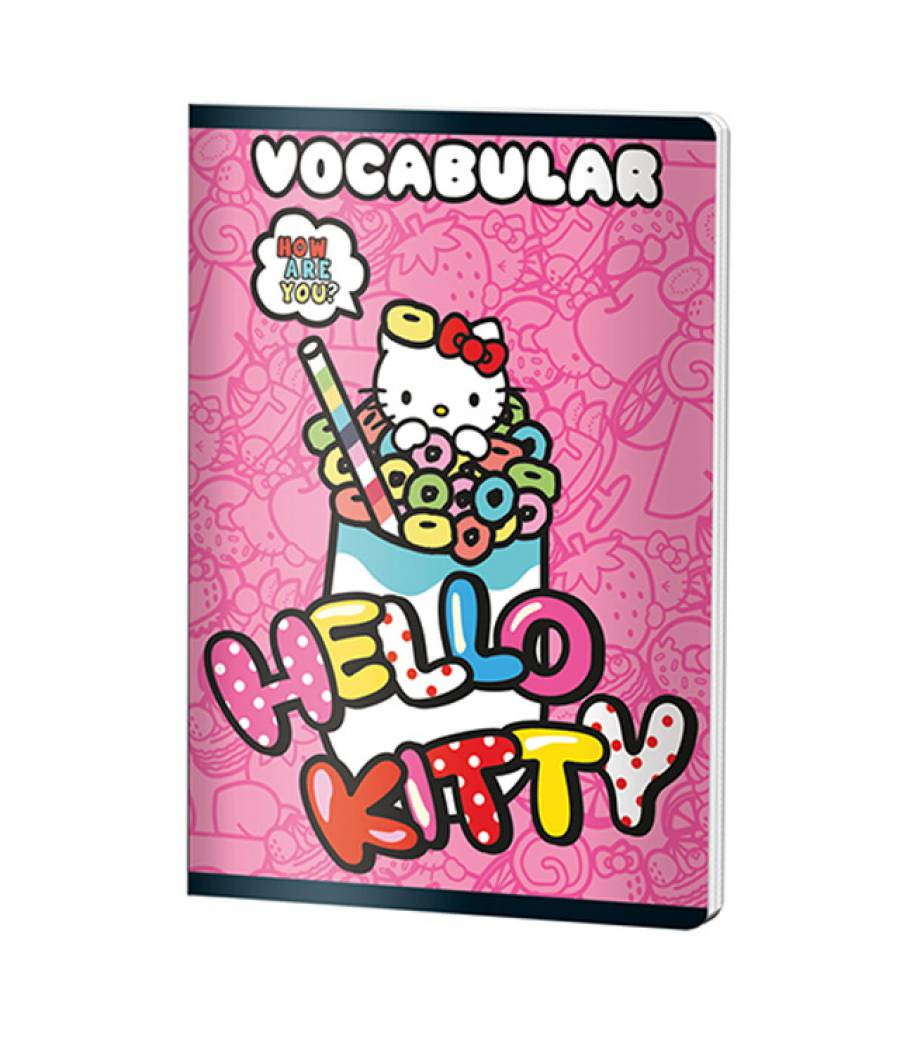 Caiet Vocabular 24file HelloKitty