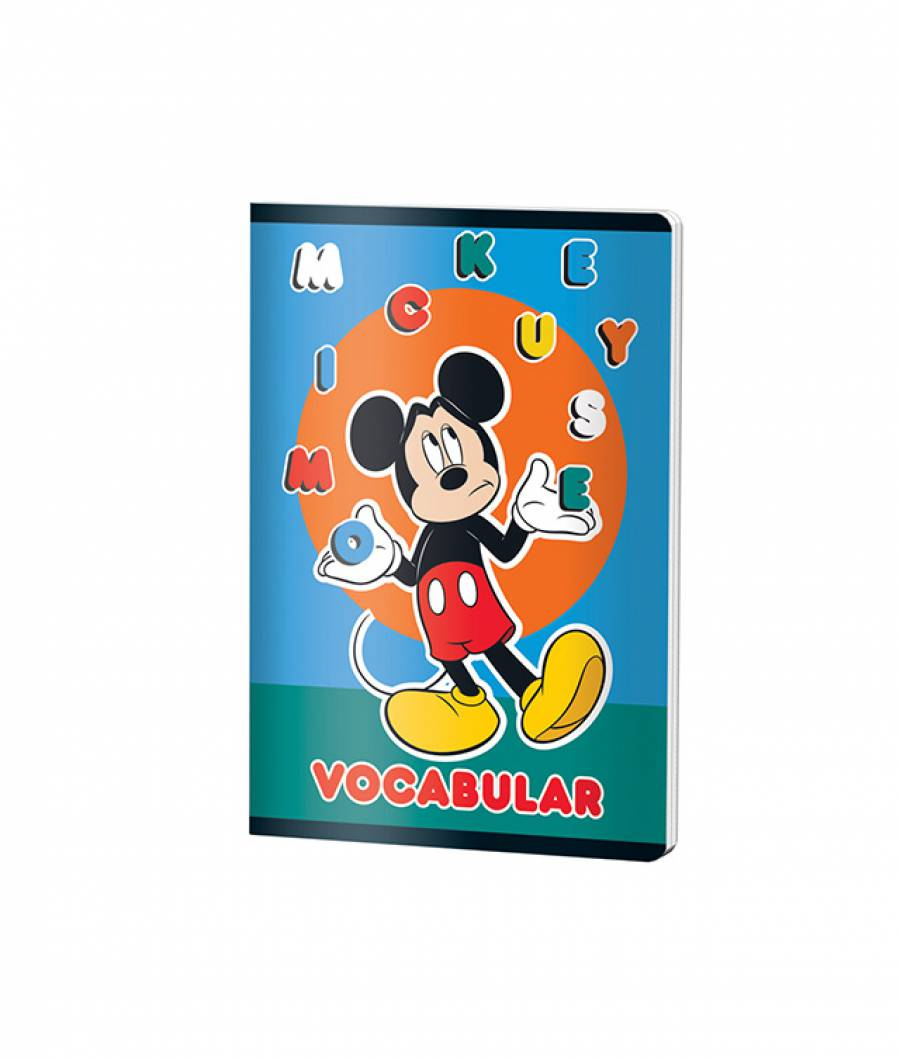 Caiet Vocabular 24file MickeyMouse