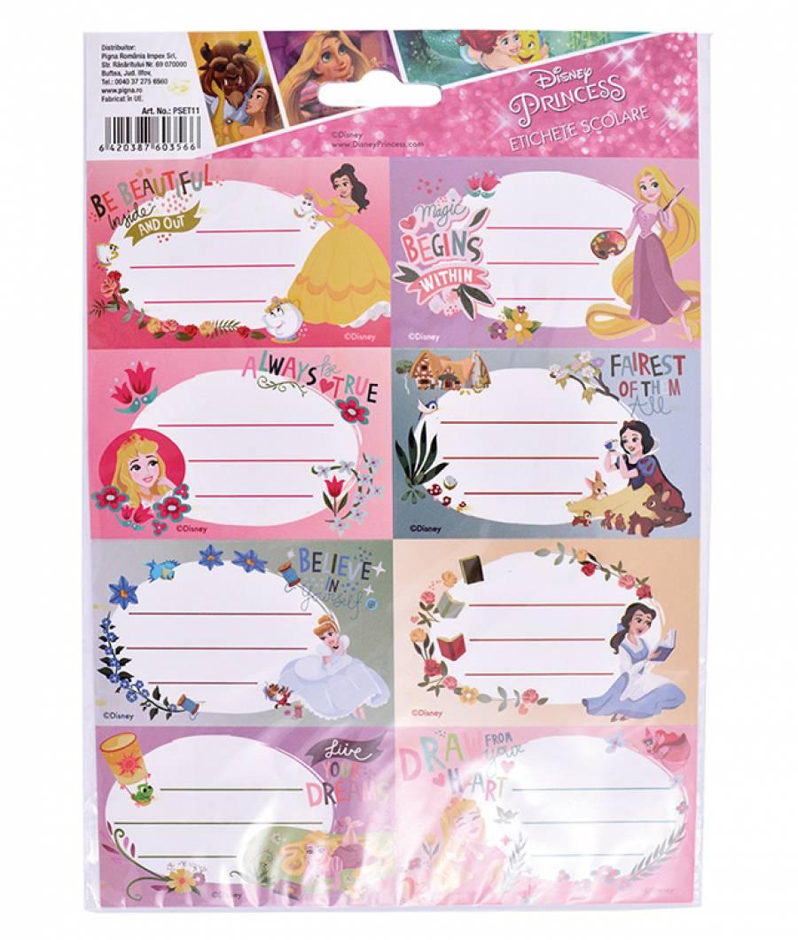 Etichete scolare 40/set Princess