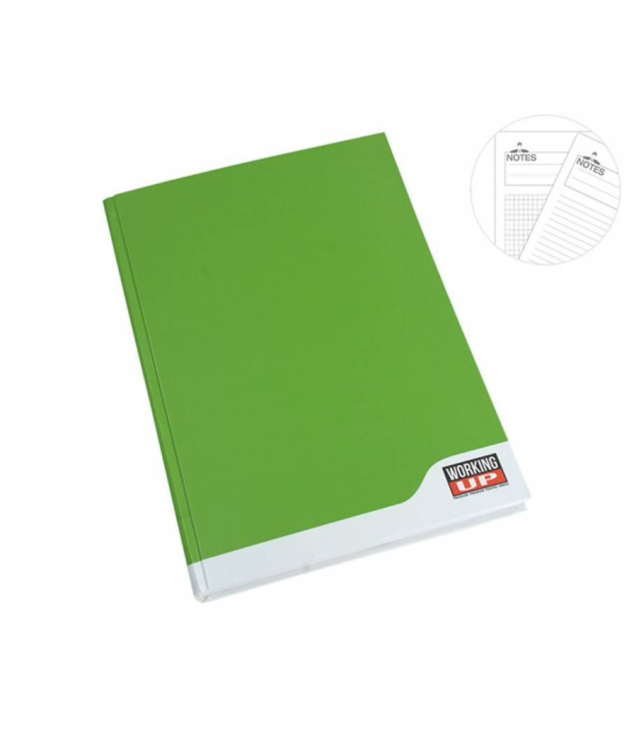 Registru A4 192file, dictando, 60g WorkingUp verde