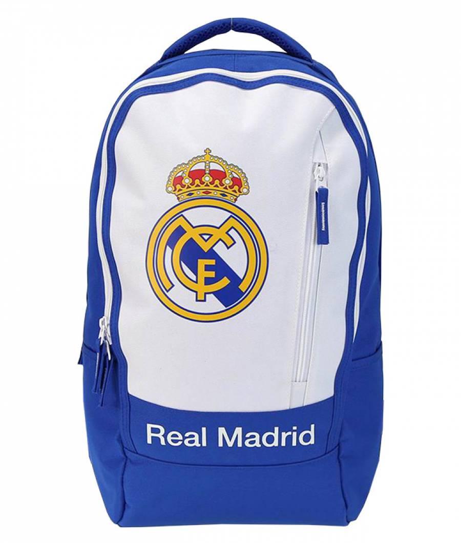 Ghiozdan Gimnaziu Real Madrid Alb/Albastru