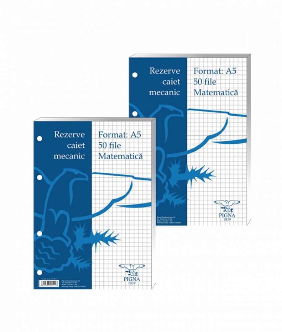 Rez.c.mec. A5, matematica, 50file alb