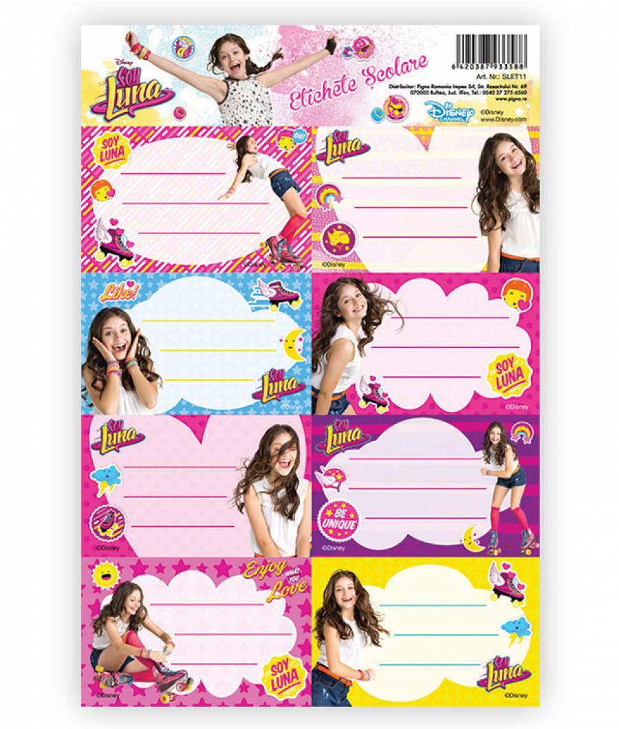 Etichete scolare 40/set Soy Luna