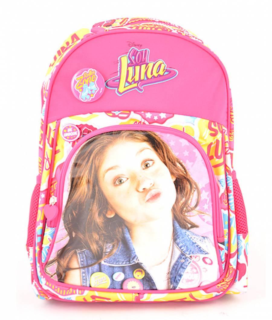 Ghiozdan, clasa 0, Soy Luna Roz Embleme