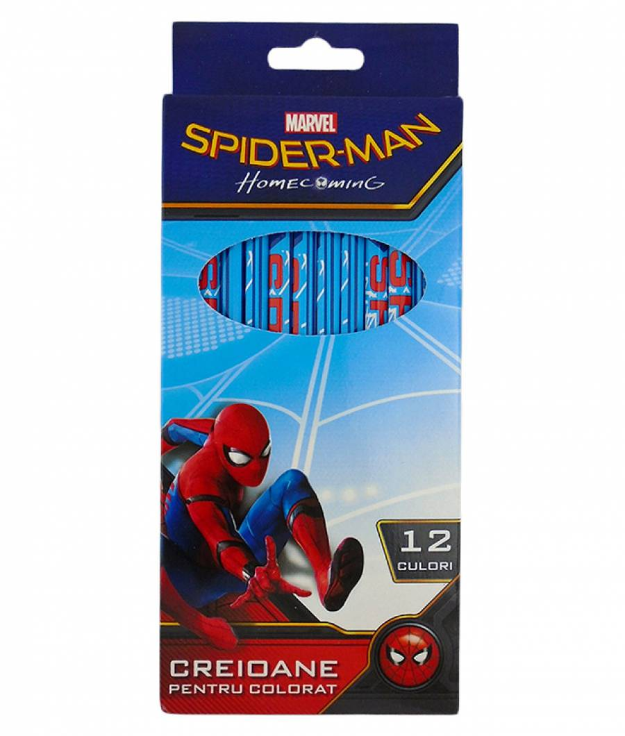 Creioane Color 12buc  Spiderman R