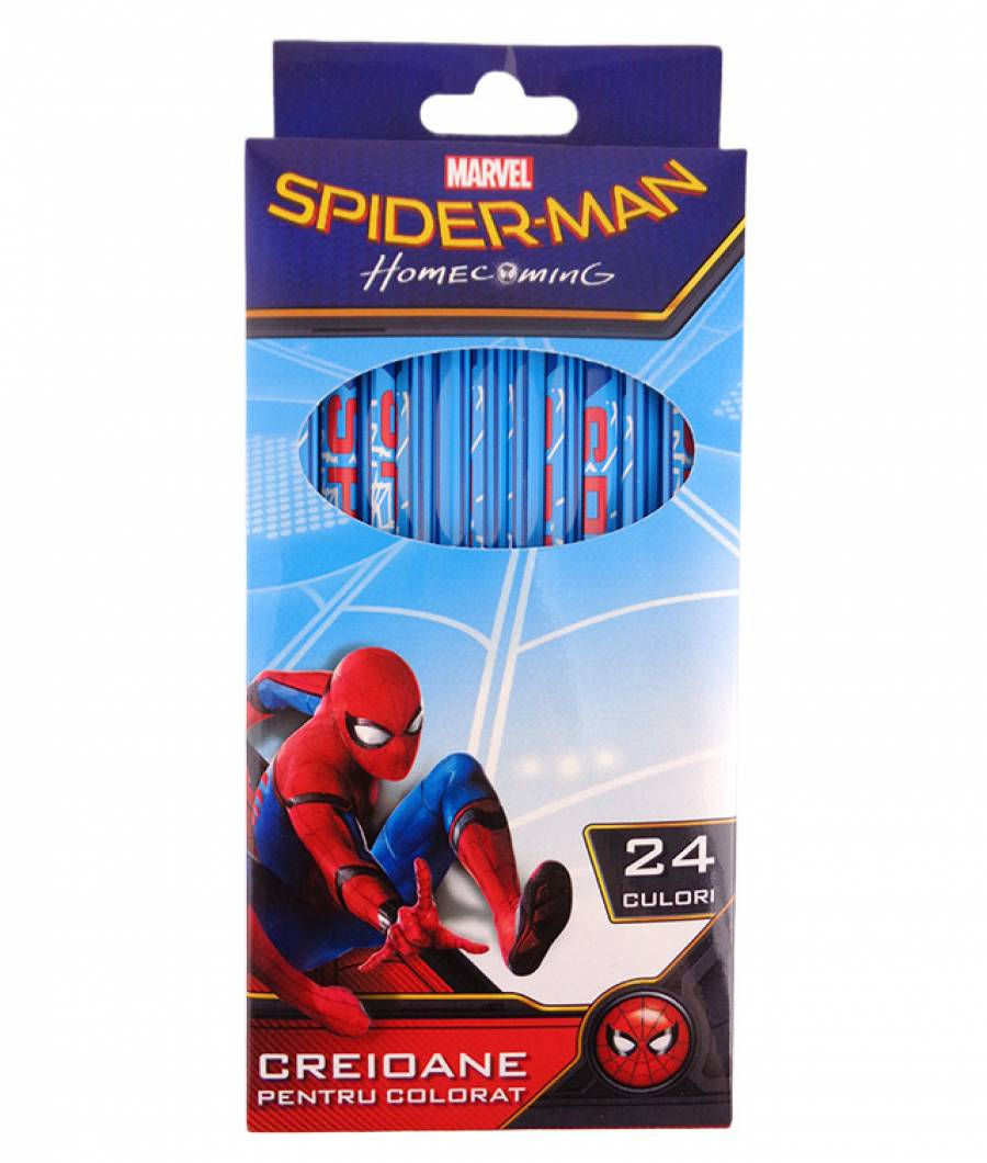 Creioane Color 24buc Spiderman R