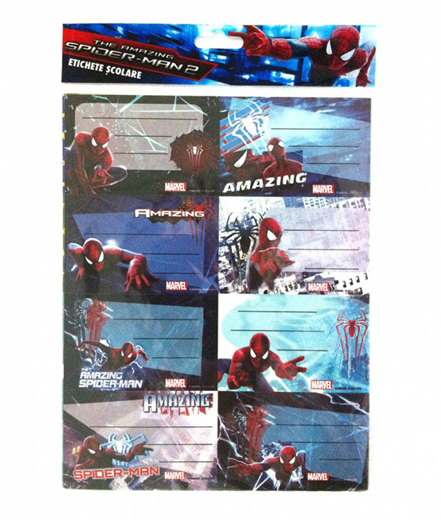 Etichete scolare 40/set Spiderman