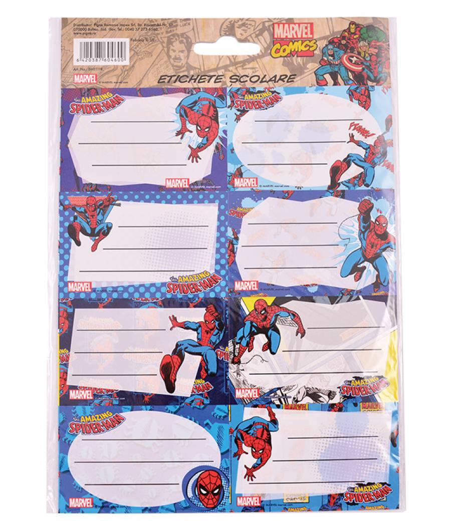 Etichete scolare 40/set Spider-Man