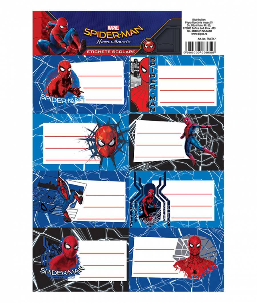 Etichete scolare 40/set Spiderman HC