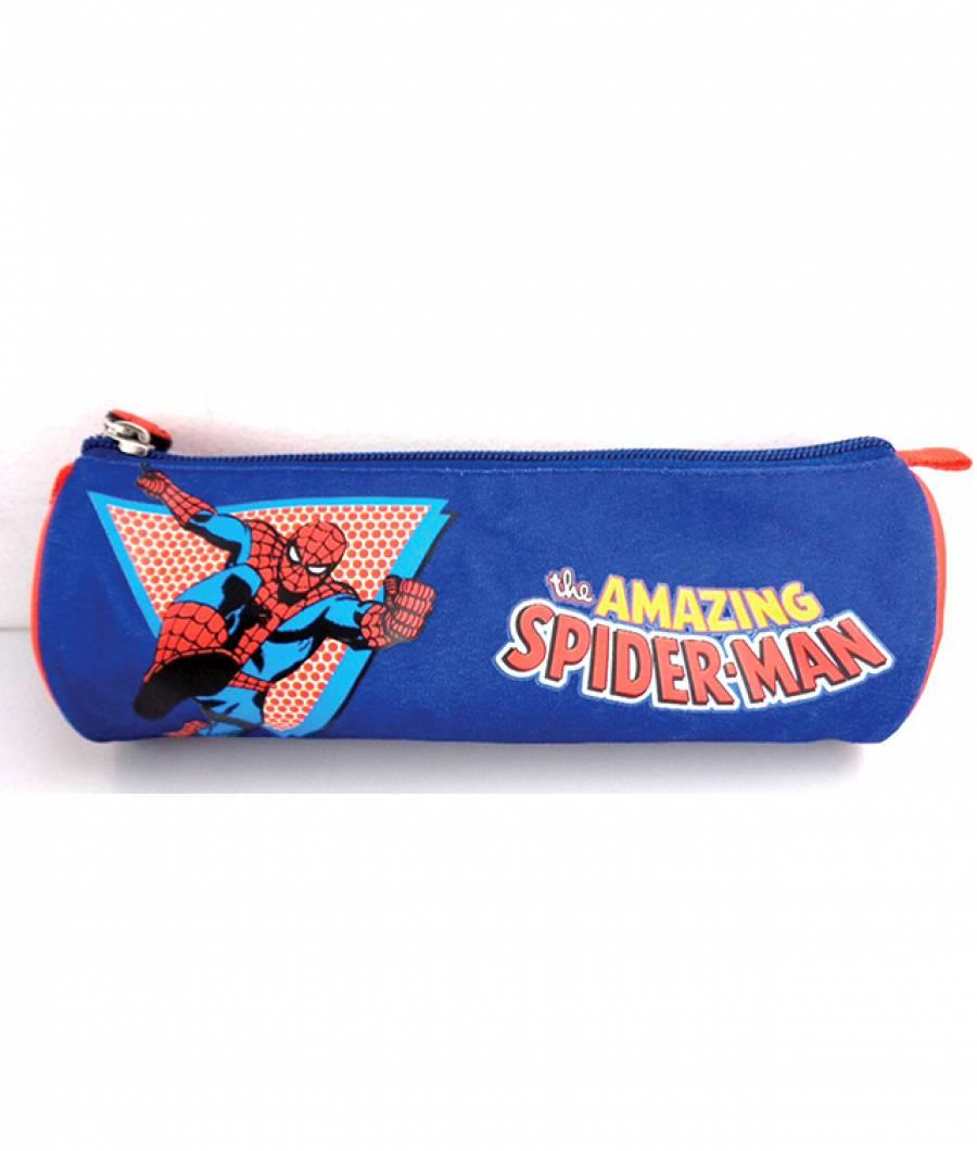 Penar Etui Tubular Spiderman Albastru Inchis T.A.Spider-man