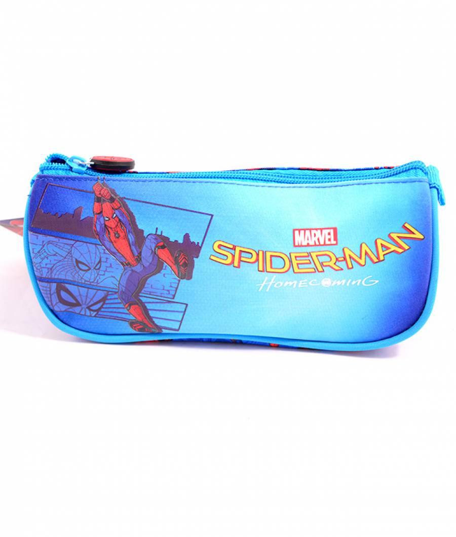 Penar Etui Triunghiular Albastru Deschis Spiderman