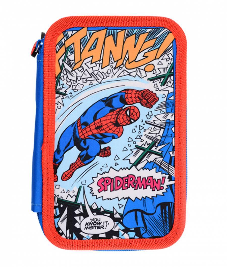 Penar 3 fermoare albastru multicolor Spider-Man