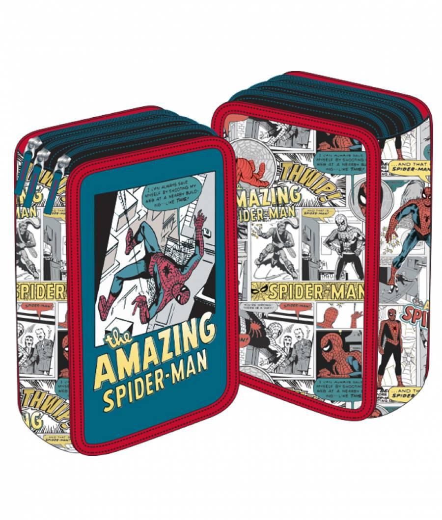 Penar 3 fermoare verde vintage MARVEL Spider-Man