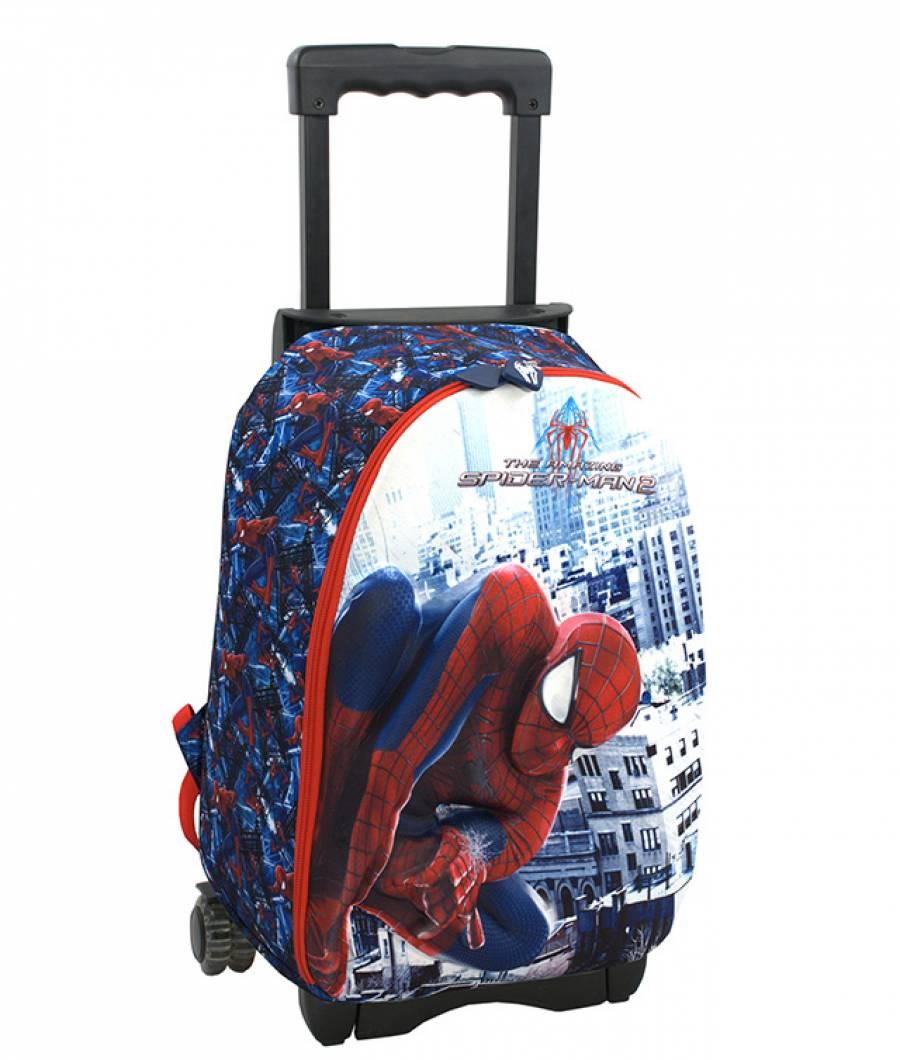 Ghiozdan Troller CL 1/4 3D 1 ferm. Spiderman Troll