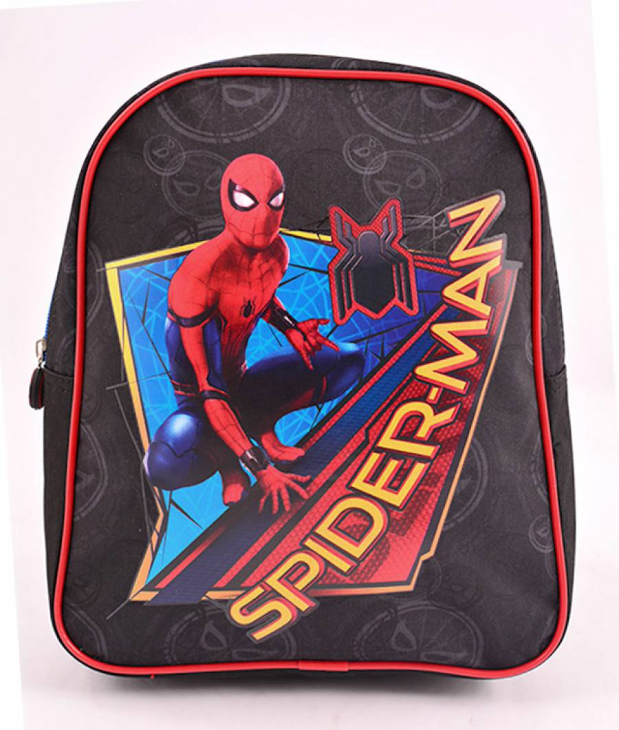 Mini Ghiozdan Gradinita Spiderman Negru
