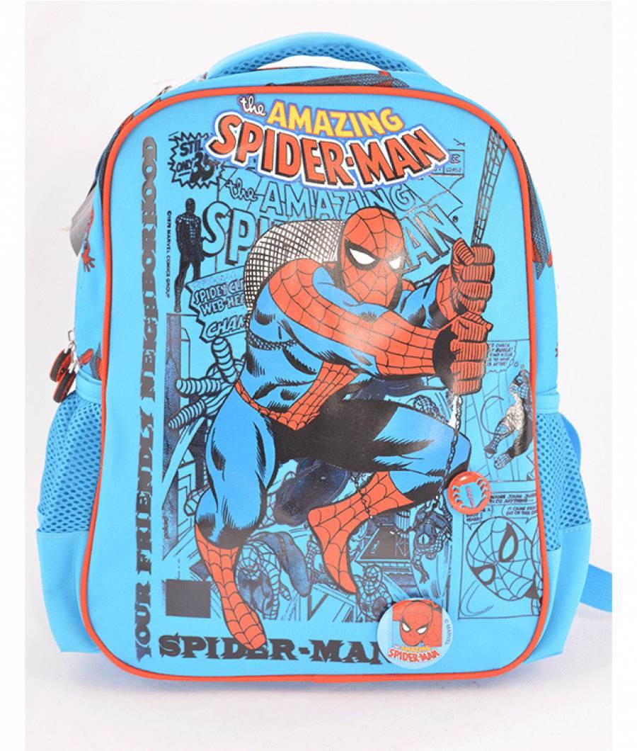 Ghiozdan Gradinita Spiderman Albastru Deschis T.A.Spider-man